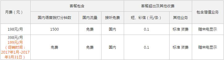 浙江湖州联通冰淇淋套餐资费