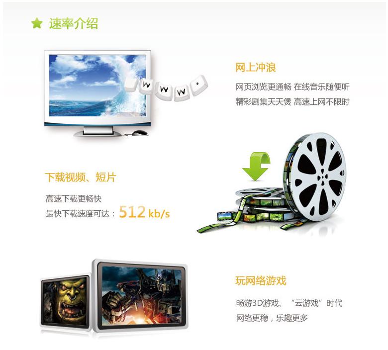 大庆 家庭宽带 100元包月不限时 速率介绍.png
