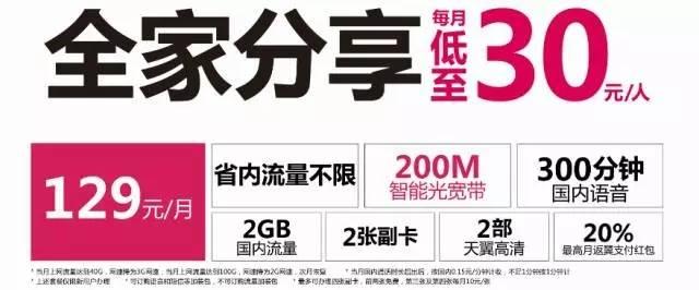 【喜大普奔】电信流量不限量套餐可以全家分享啦!还送200M宽带.jpg