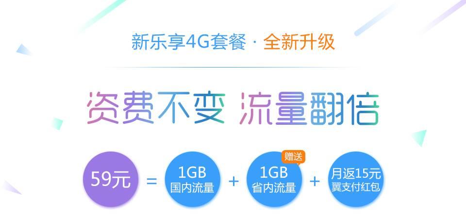 新乐享4G套餐~59元档