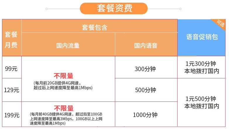 西安4G畅爽冰激凌套餐资费