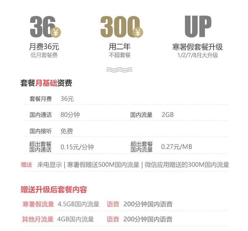 北京联通微信沃派套餐资费