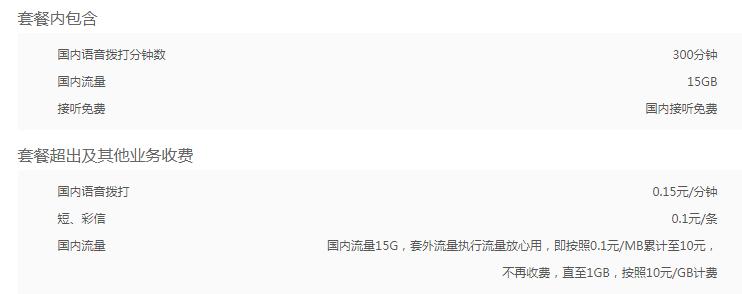 长春联通4G全国流量王76元套餐