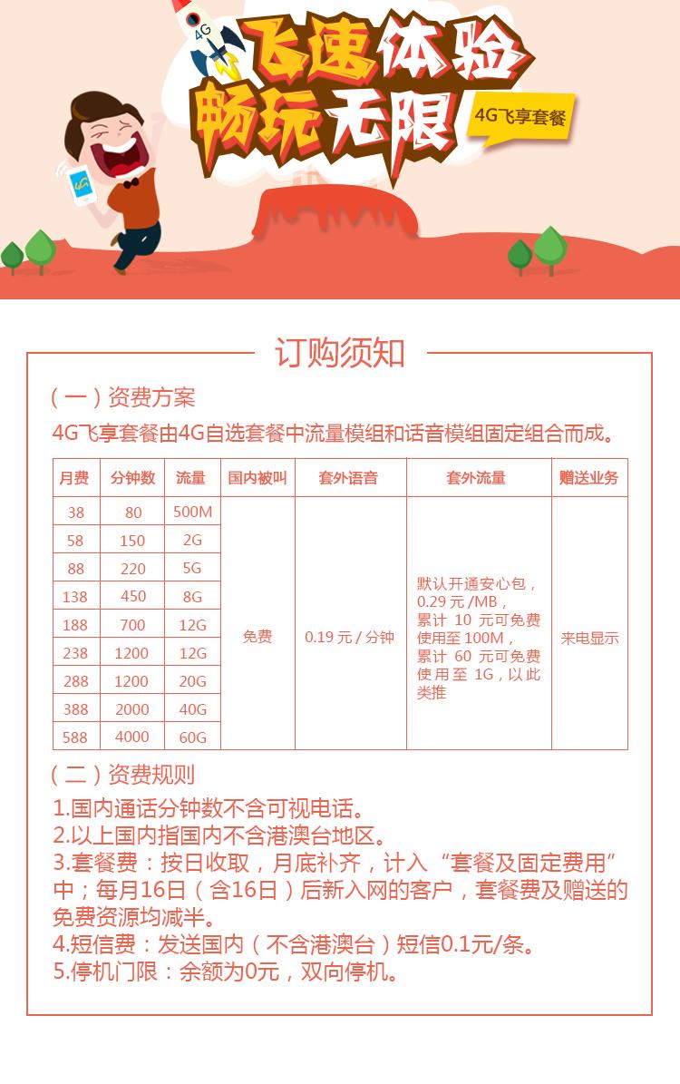 沈阳4G飞享套餐