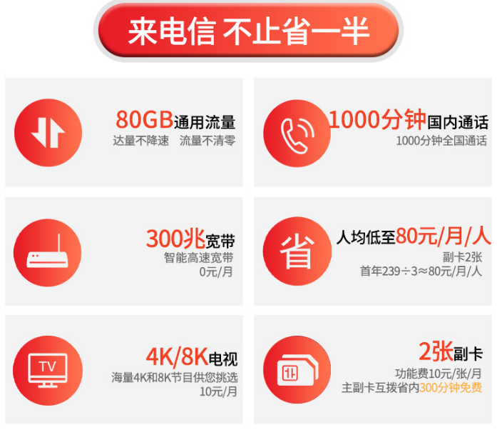 连云港电信5G套餐-239元